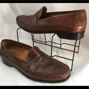 Bostonian Leather Slip On Loafers Dress Shoes